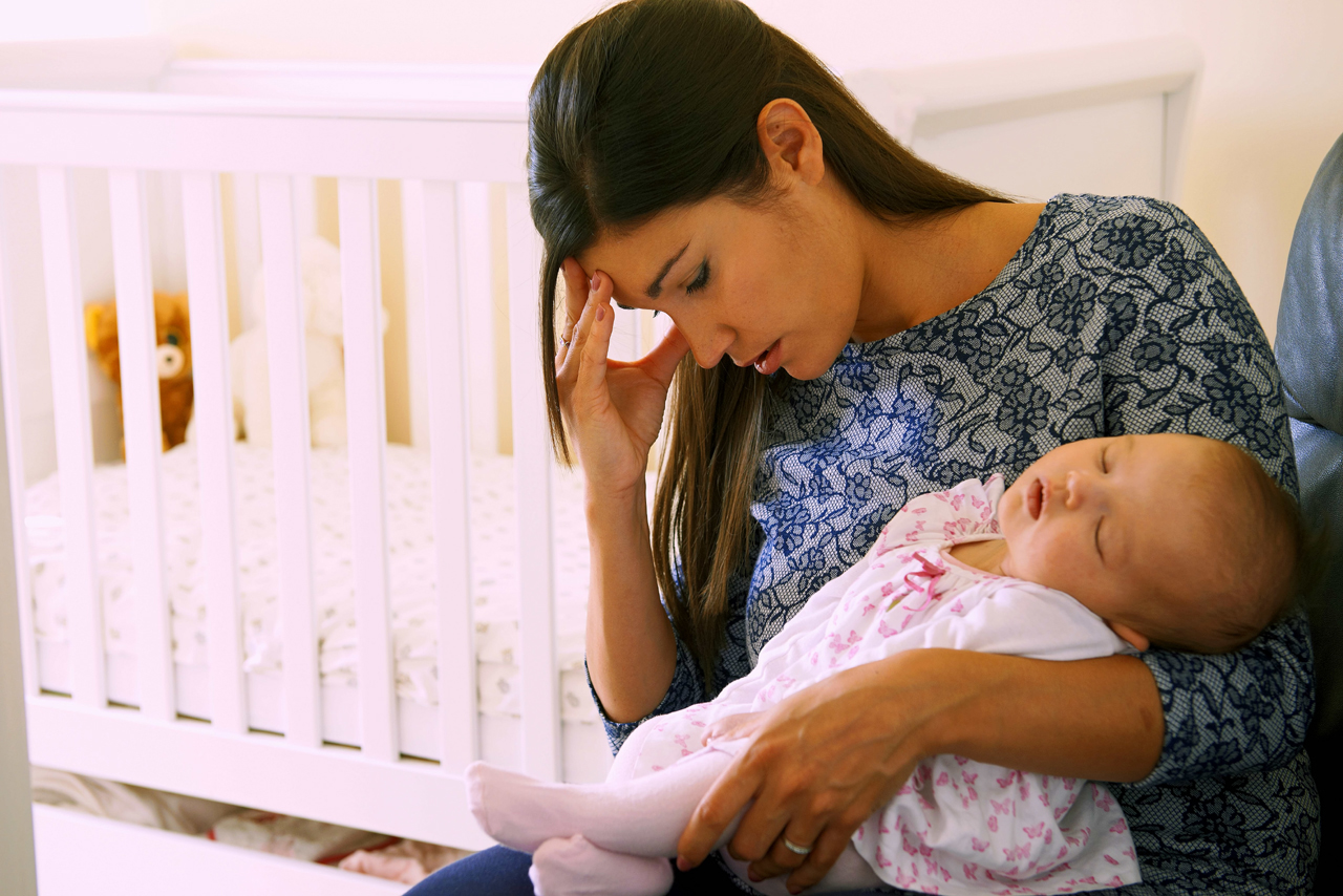 Postpartum Drepression Can Hit New Moms Hard